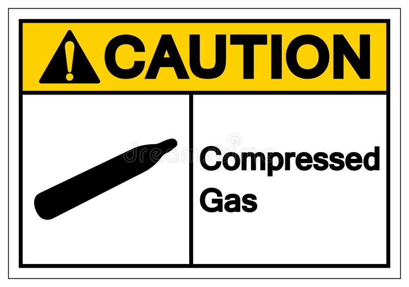 Caution Compressed Gas Symbol Sign, Vector Illustration, Isolate On White Background Label. EPS10. Caution Compressed Gas Symbol Sign, Vector Illustration stock illustration