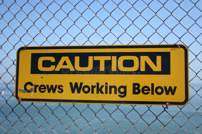 Download Caution Crews Working Below Stock Image - Image of workmen, beware: 1504675