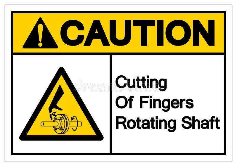 Caution Cutting of Fingers Rotating Shaft Symbol Sign, Vector Illustration, Isolate On White Background Label .EPS10 stock illustration
