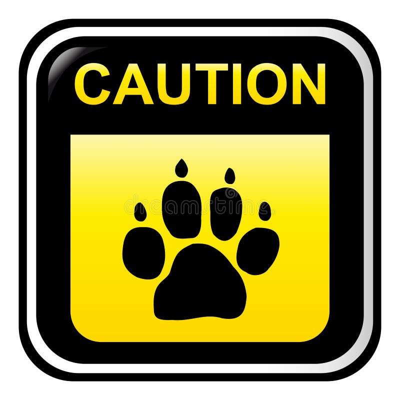 Caution - dog vector illustration
