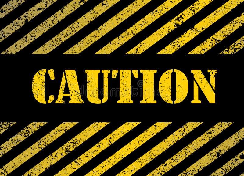 Caution stock illustration