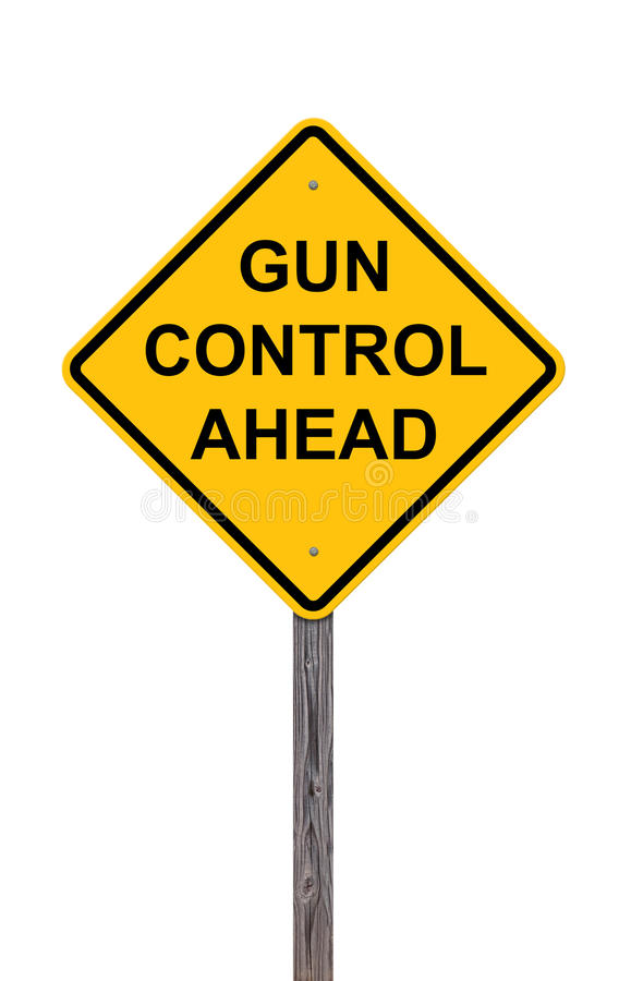 Download Caution - Gun Control Ahead Stock Photo - Image: 28719502
