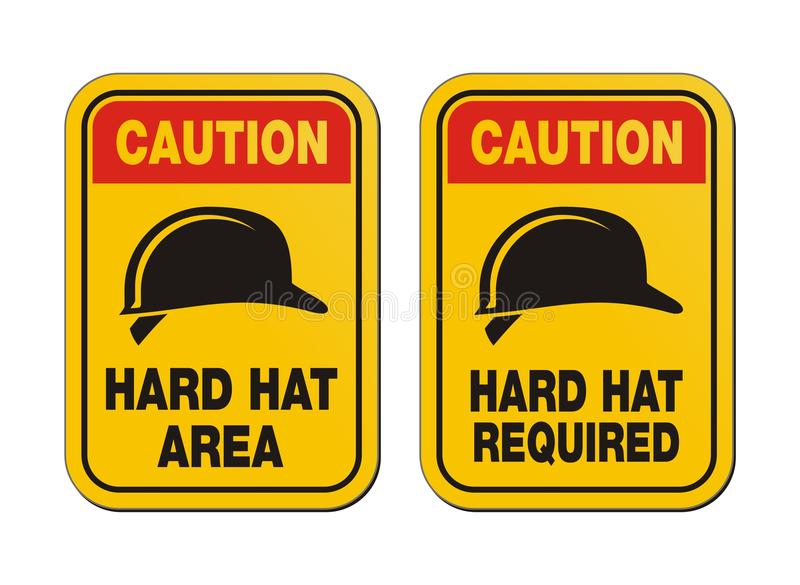 Download Caution Hard Hat Required Signs - Yellow Signs Stock Illustration - Image: 36225560
