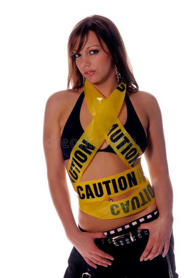 Caution Hottie! royalty free stock photos