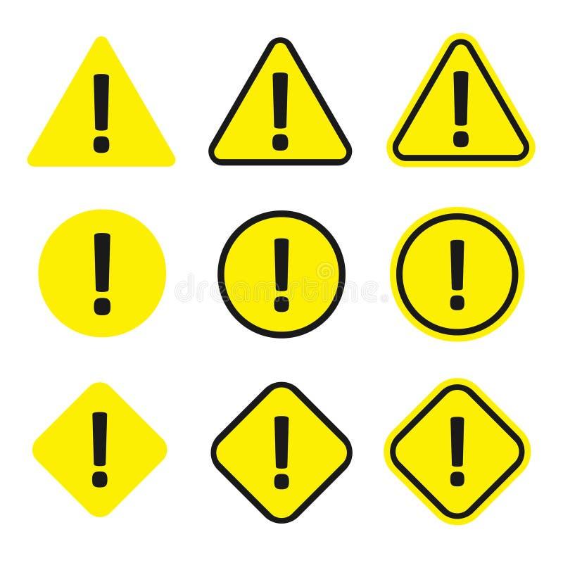 Caution icon set vector illustration