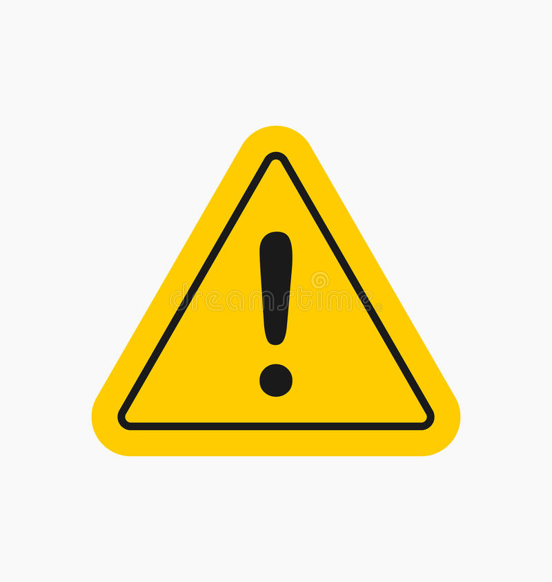 Free Caution Icon / Sign In Flat Style Isolated. Warning Symbol Stock Photography - 92961182