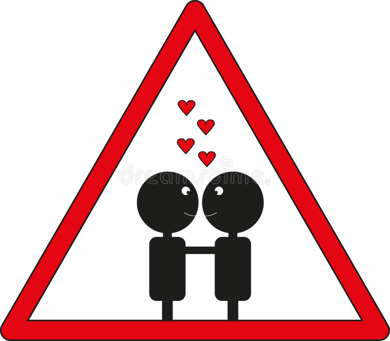 Caution Love Royalty Free Stock Photography