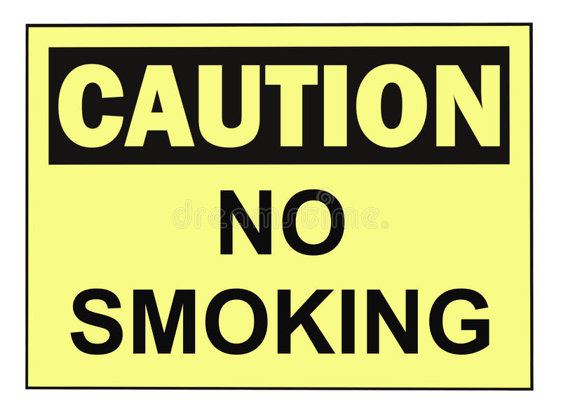 Caution No Smoking stock photography