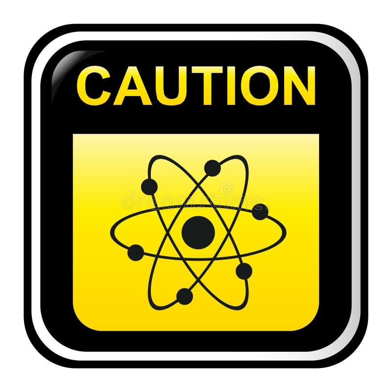 Caution - radioactive stock illustration