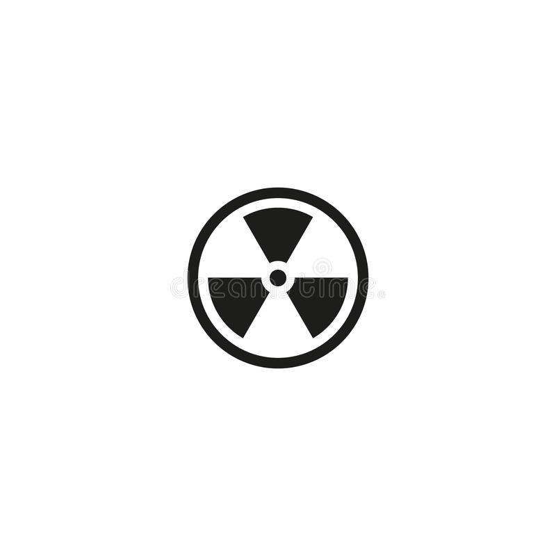 Caution Radioactive Material Isolated Symbol Stock Vector