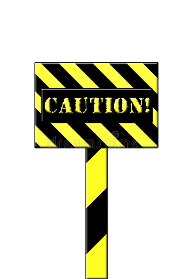 Caution Sign Stock Photography