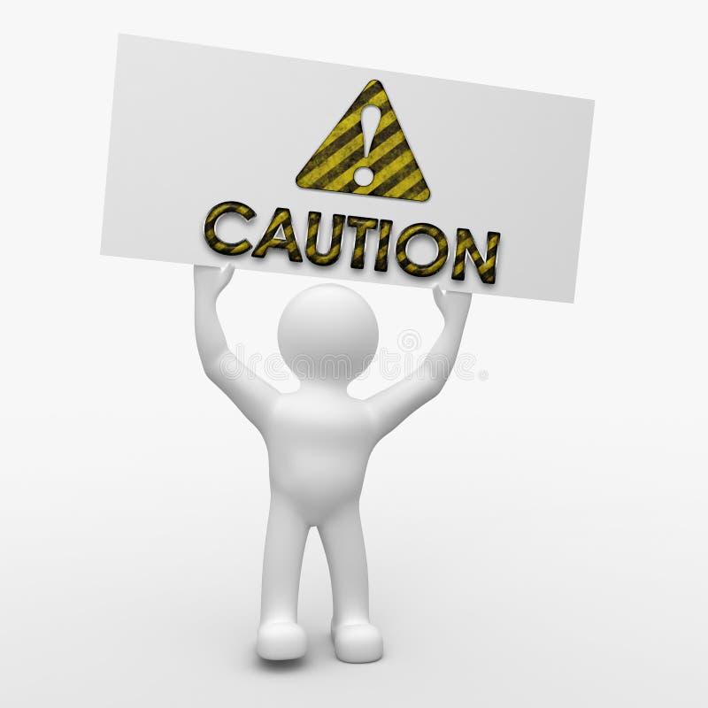 Caution Sign! royalty free illustration