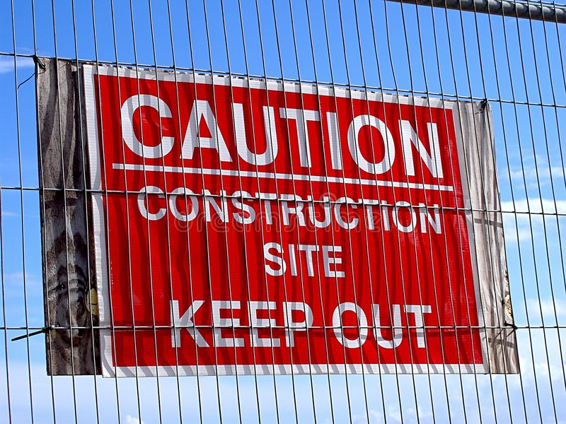 Download Caution Sign stock photo. Image of construction, industries - 29880