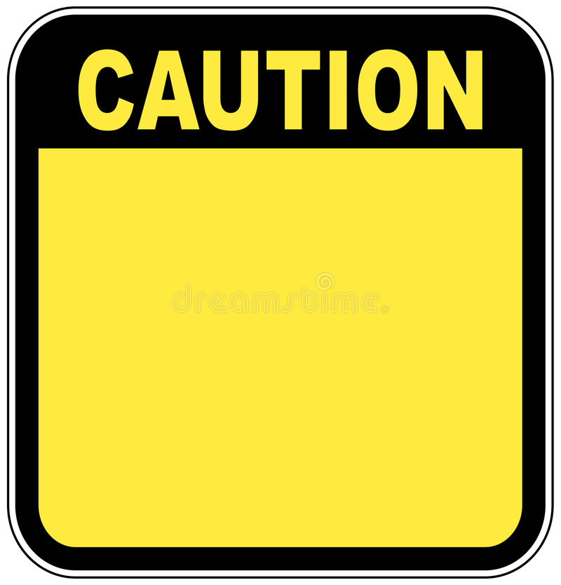 Caution sign stock illustration