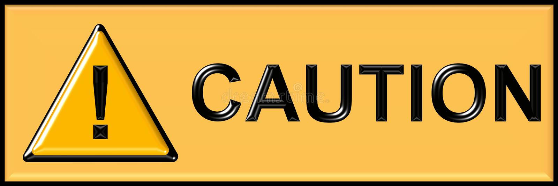 Caution sign vector illustration
