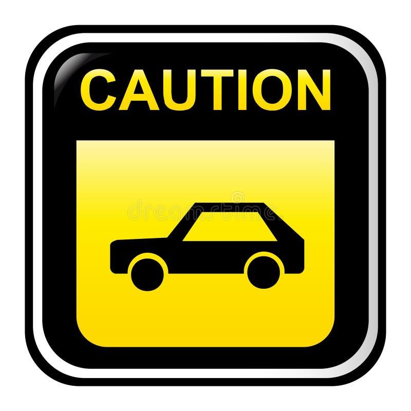 Caution sign - car vector illustration
