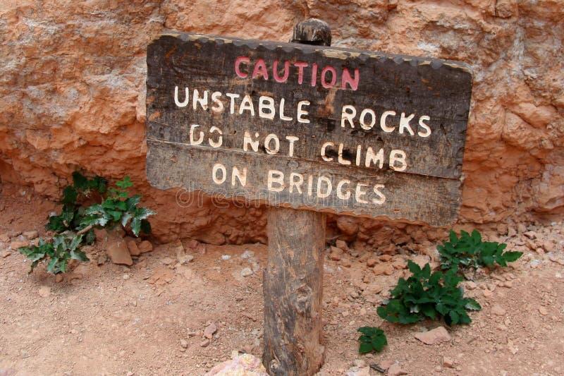 Caution Sign - Do Not Climb royalty free stock photos