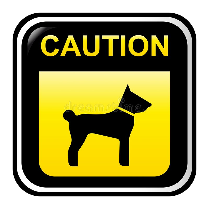 Free Caution Sign - Dog Royalty Free Stock Photos - 8430158