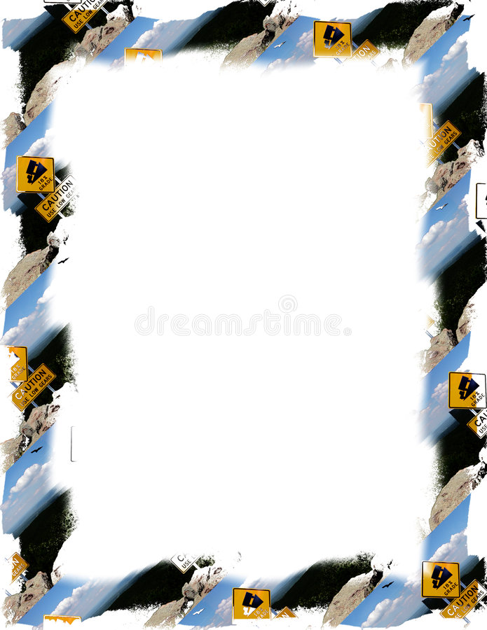 Caution Sign Frame on White royalty free illustration