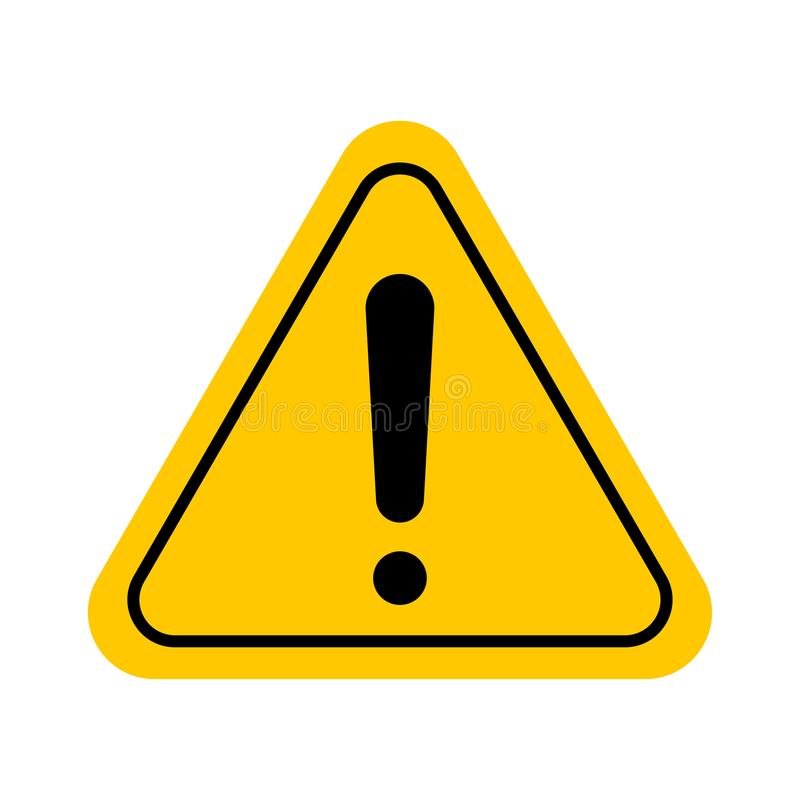 Caution sign or icon stock illustration