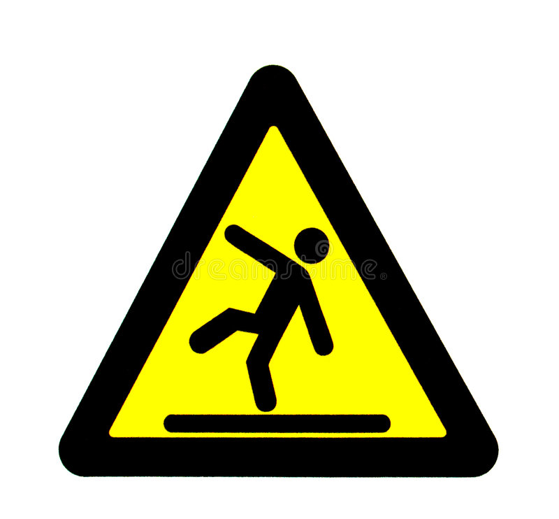Caution signal of fall royalty free illustration