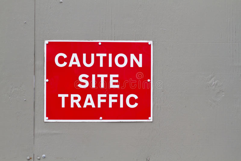 Download Caution Site Traffic Warning Sign Stock Photo - Image: 18415088