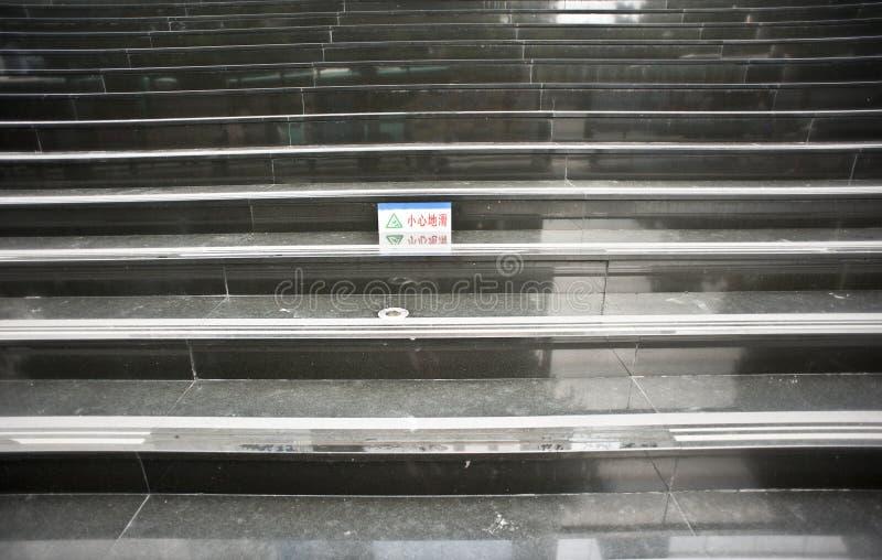 Download Caution slippery floor stock image. Image of step, floor - 25702363