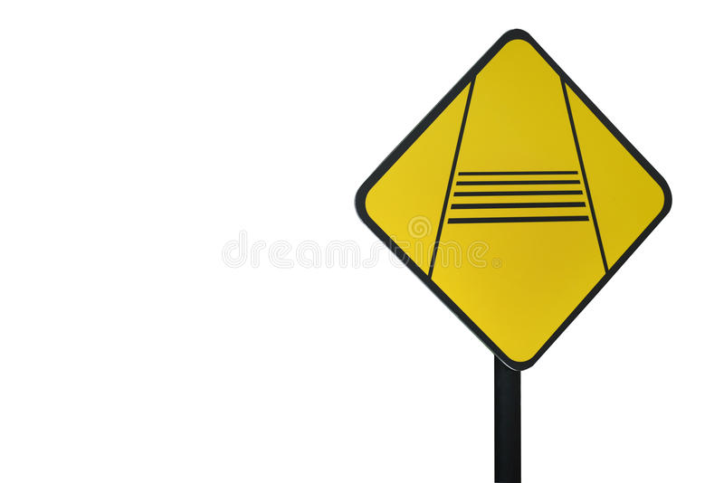 Caution Slow Down Traffic Sign Stock Photo - Image of travel, slowly ...