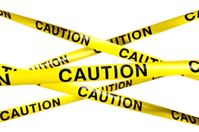 Download Caution tape stock illustration. Image of barricade, barrier - 10302606