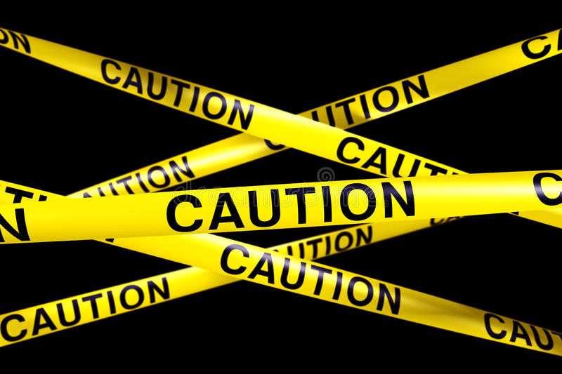 Download Caution tape stock illustration. Image of safety, barricade - 17073070