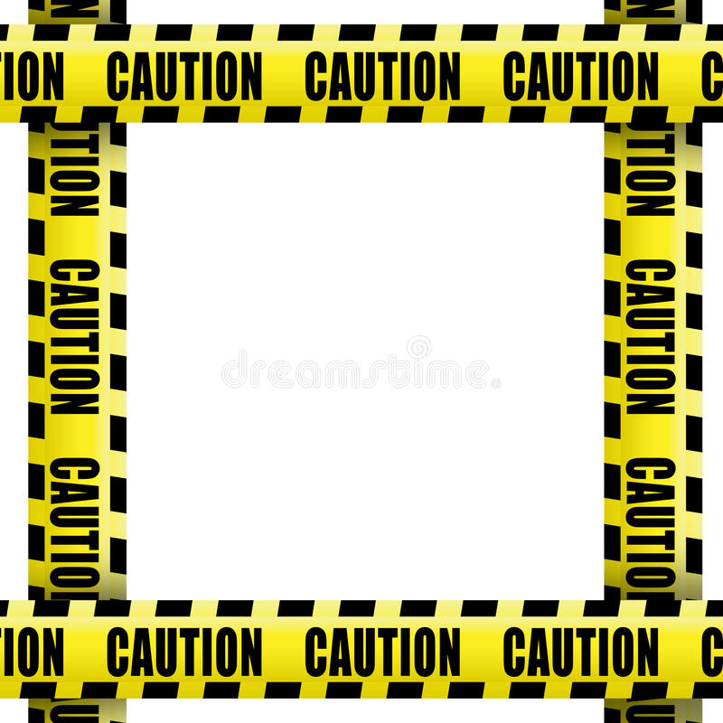 Caution tape frame royalty free illustration