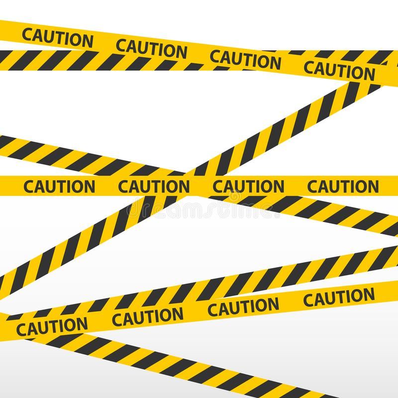caution tape police line and danger tapes stock vector rh dreamstime com Cartoon Caution Tape Cartoon Caution Tape