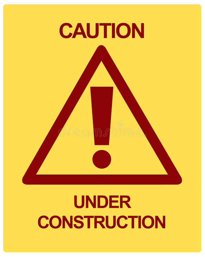 CAUTION Under Construction vector illustration