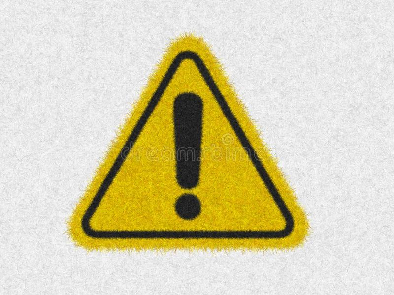 Caution warning sign, be careful symbol icon isolated in white background. Hazard warning safety sign in dangerous situation. vector illustration