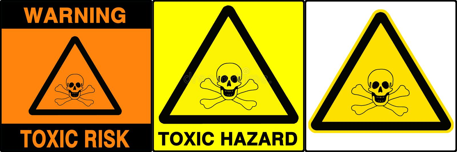 Download Caution/warning Signs Set, V Stock Photo - Image of chemistry, high: 20272