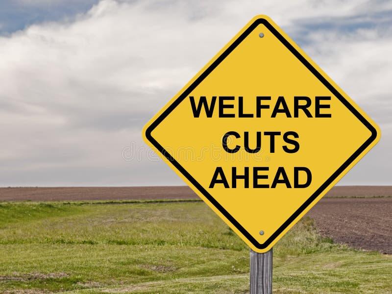 Caution - Welfare Cuts Ahead stock photo
