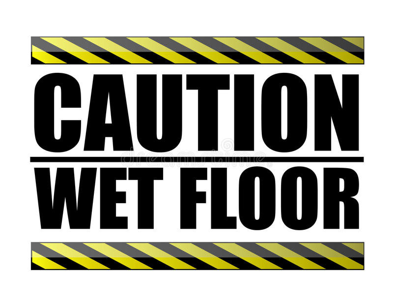 Download Caution wet floor stock vector. Illustration of interior - 14629802