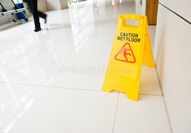 Download Caution wet floor stock image. Image of building, male - 20410811