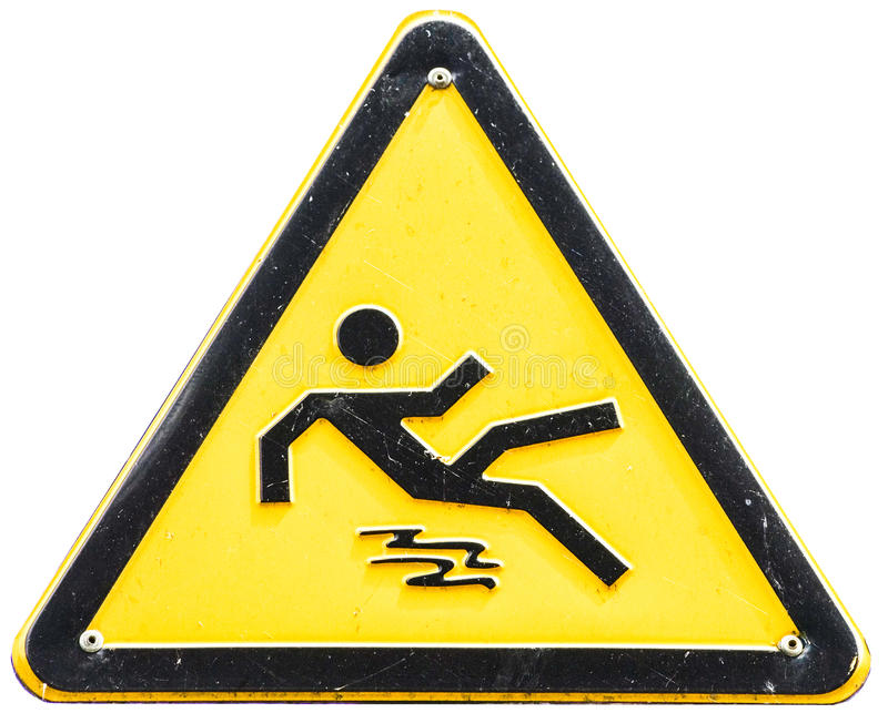 Download Caution wet floor sign stock photo. Image of single, warning - 28350440