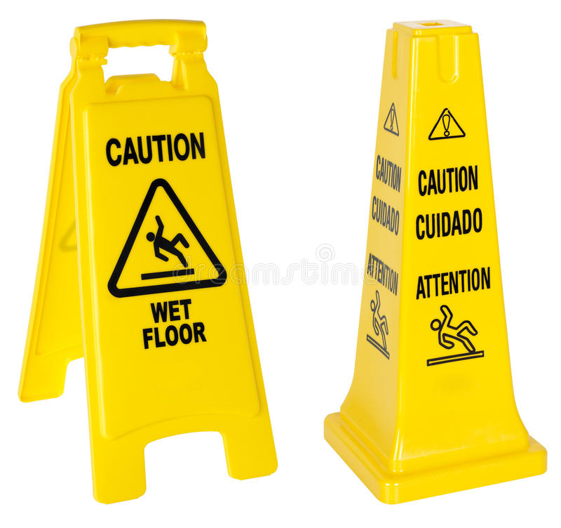 Download Caution: Wet Floor signs stock photo. Image of plastic - 17582994