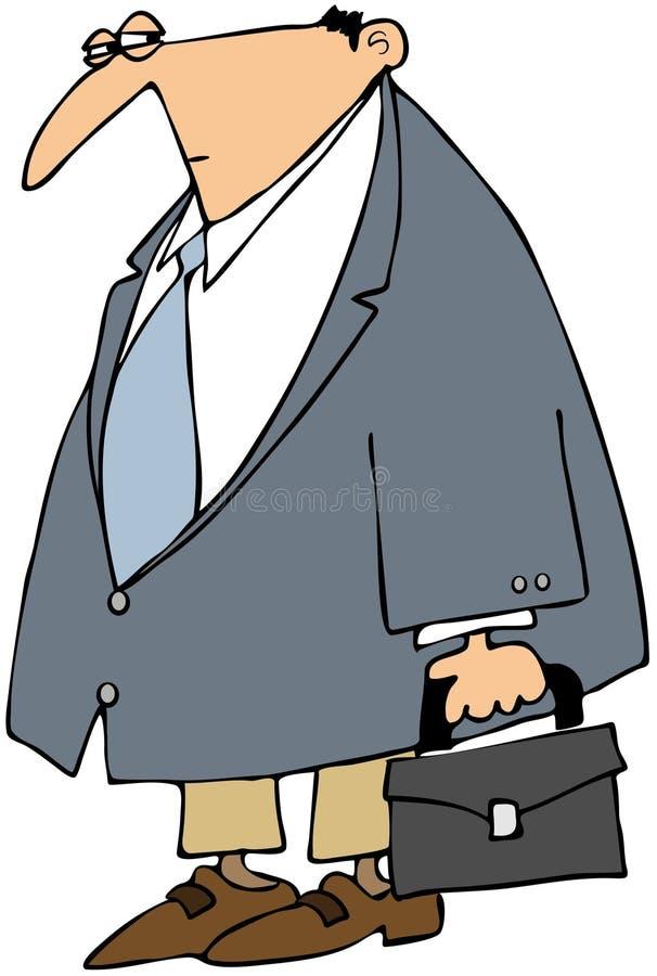 Download Cautious Businessman stock illustration. Image of sport - 24395061