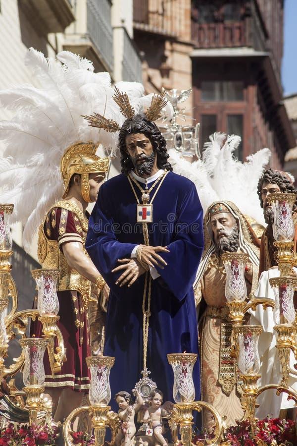 Cautivo de Jess y semana rescatada, santa en Sevilla fotos de archivo libres de regalías