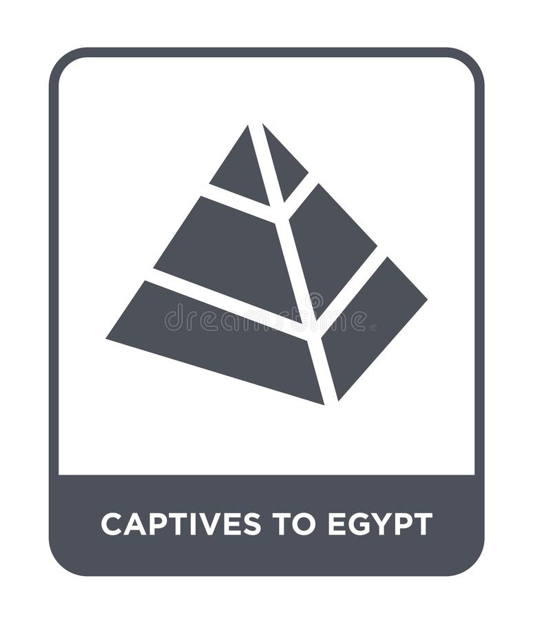 cautivos al icono de Egipto en estilo de moda del diseño cautivos al icono de Egipto aislado en el fondo blanco cautivos al icono ilustración del vector
