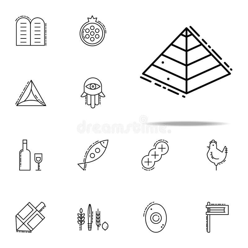 Cautivos al icono de Egipto Sistema universal de los iconos del judaísmo para la web y el móvil ilustración del vector