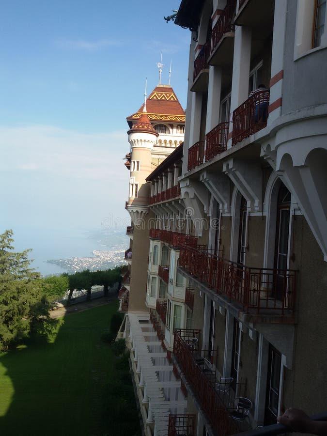 Caux Castle, Ελβετία στοκ εικόνες με δικαίωμα ελεύθερης χρήσης