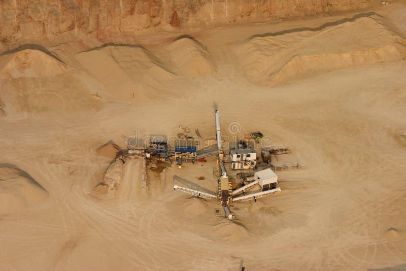 Cava della sabbia immagine stock