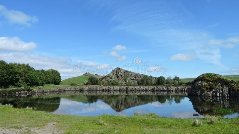 Cava di Cawfields in Northumberland fotografie stock