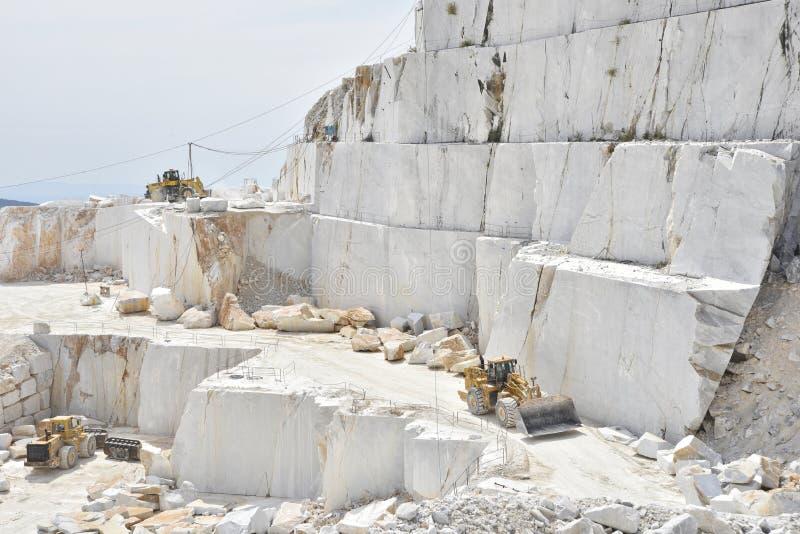 Cava di marmo arkivfoto