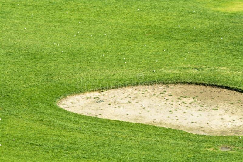 Cava di sabbia del campo da golf fotografia stock libera da diritti