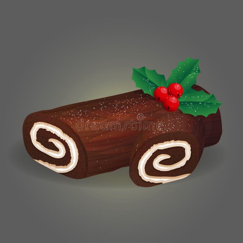 Cavaca tradicional do rolo do Natal ilustração stock